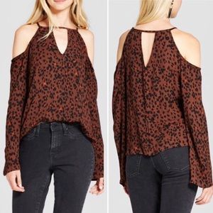 Mossimo Cold Shoulder Women's Top Size Small